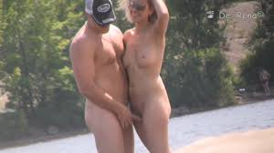 Voyeuring couple naked outdoors