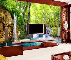 wall murals for living room. Room · Custom Modern Wallpaper 3D Stereoscopic Waterfall Scenery Wall Murals For Living