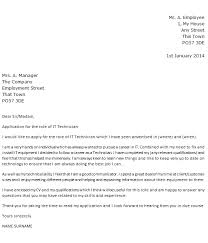 Help Desk Technician Cover Letter Under Fontanacountryinn Com