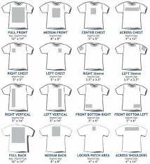 T Shirt Sizing Guide Cricut Silhouette Vinyl Printed Shirts