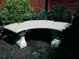concrete garden bench. Curved Concrete Bench Nice Garden Small Benches