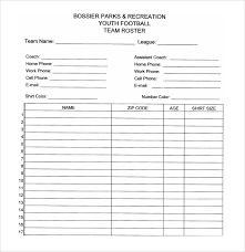 Sample Football Roster Template 9 Free Documents Download