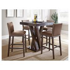 bar height dining table set. Bar Height Dining Table Set Pertaining To 5 Piece Whitney Wood Chocolate Steve Plan 19 O