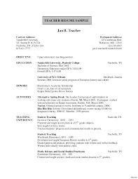 Resume Format Teacher Fresher Sugarflesh
