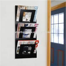 wall mounted brochure holder modern metal magazine rack  buy