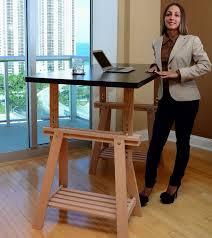 an ikea trestle into an adjule standing desk