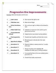Progressive Era Improvements Reform Matching Teaching