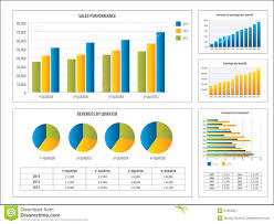 Report With Pictures Report With Financial Investment Chart Stock Vector