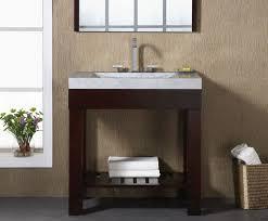 Small Picture Indus 24 inch Dark Walnut Modern Bathroom Vanity Solid Poplar