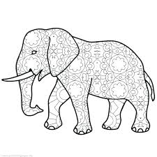 Printable Elephant Picture Adult Coloring Sheets Elephant Coloring