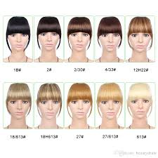 6 Inch Short Front Neat Bangs Clip In Bang Fringe Hair Extensions