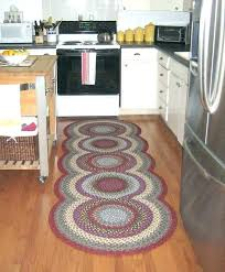 braided rug runners washable brown rugs for stairs