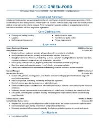 9 Heavy Equipment Operator Resume Offecial Letter Agriculture