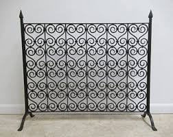 french fireplace screens. vintage wrought iron french regency fireplace screen tool screens