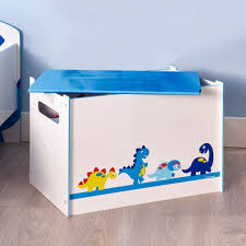 dinosaur toy box kids children boys storage chest bedroom boxes organiser toddler playroom