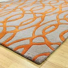 gray and orange area rug kitchen rugs lovely ideas teal