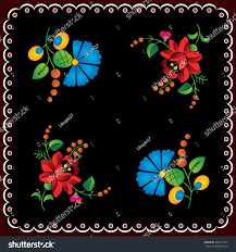 Hungarian Folk Embroidery Designs Hungarian Folk Embroidery Design Stock Vector Royalty Free