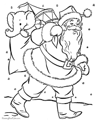 Simple Christmas Color Pages N Coloring Preschool Number 1