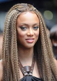 long crimped hair long crimped hair image shutterstock tyra banks sizzles in this hairstyle
