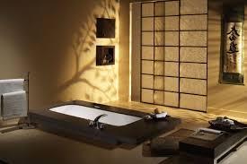 Japanese Themed Room Japanese Themed House Wall Lighting Beside Black Leather Sofa