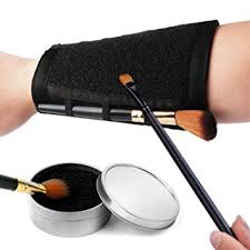 esarora makeup brushes color removal cleaner sponge armband more easy to switch or remove color