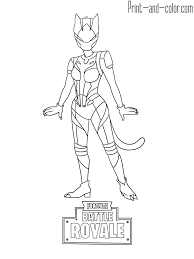 Fortnite Skins Coloring Pages To Print