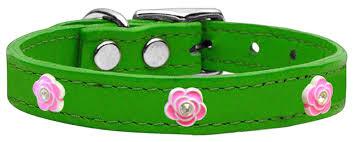 home collars widget collar collection bright pink rose widget genuine leather dog collars bright pink rose widget genuine leather dog collar emerald