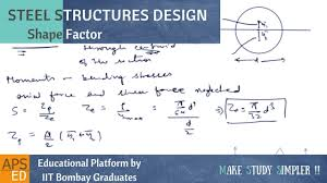 Design Factor Formula Shape Factors For Various Sections Design Of Steel Structures