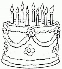 Small Picture Birthday Cake Coloring Sheets FreeCakePrintable Coloring Pages