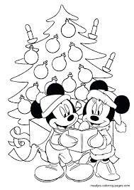 Christmas Coloring Pages Mickey Mouse Creativeinfotechinfo