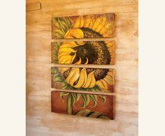 Image Yellow Sunflower Dont Forget The Sunflowers Sunflower Art Sunflower Wall Decor Sunflower Kitchen Jollychic 251 Best Sunflowers In Home Decor Images Sunflowers Crochet