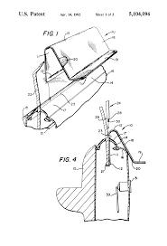 Patent us5104094 car door latch mechanism viewing tool