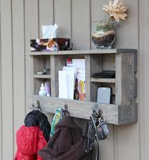 rustic coat rack entry foyer entryway key holder for wall mail holder wall organizer shelf key hooks phone ipad tab tablet gbandwood