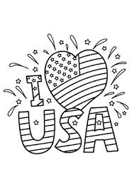 I Love Usa Coloring Pages July 4 Independence Day Coloring Pages