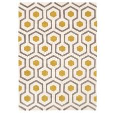 linon home decor geo collection ivory grey 2 ft x 3 ft indoor