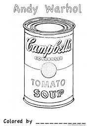 Small Picture andy warhol coloring pages andy warhol coloring pages for kids and