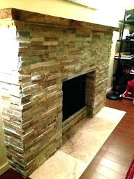 how to reface a stone fireplace refacing with ideas brick