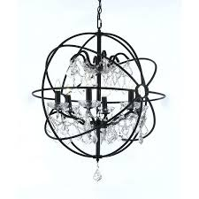 foucaults orb chandelier orb chandelier wrought iron and crystal foucaults orb crystal chandelier extra large