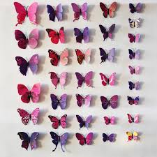 Paper Decorations For Bedrooms Bedroom Cute Removable 3d Butterflies Wall Craft Decorations For