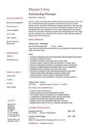 Cv Account Relationship Manager Resume Account Management Cv Job