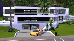 Ultra Modern Houses The Sims 3 Ultra Modern Bw Mansion Download Link Youtube