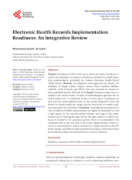 Pdf Electronic Health Records Implementation Readiness An