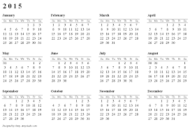 Calendar Format 2015 Free Printable Calendars And Planners For 2019 And Past Years