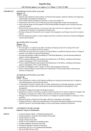 Quantitative Analyst Resume Quantitative Analyst Resume Samples Velvet Jobs 1