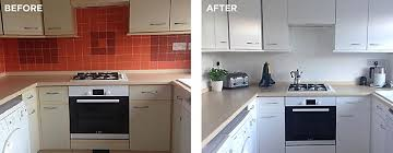 tile paint kitchen. Wonderful Paint Before And After Painted Kitchen Tiles With Ronseal Tile Paint Intended Tile Paint Kitchen