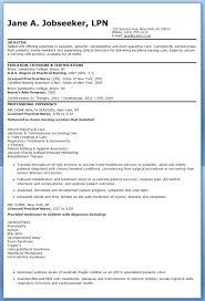 Sample Lpn Resume Sample Resume Objective Sample Lpn Resume Skills