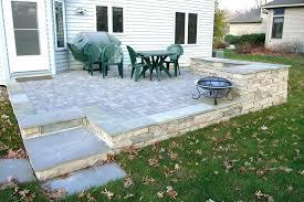 building a raised stone patio building raised stone patio picture design