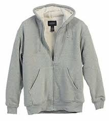 Details About New Gioberti Mens Sherpa Lined Pull Zip Fleece Hoodie Jacket In Heather Gray 2xl
