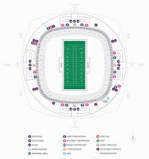 Georgia Dome Map Seating Football Seating Charts Mercedes