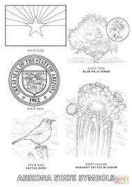 Small Picture Arizona State Symbols coloring page Free Printable Coloring Pages